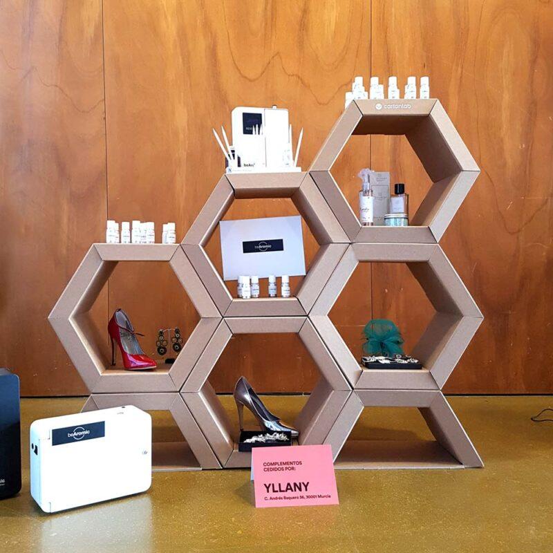 expositor hexagonal modular tiendas