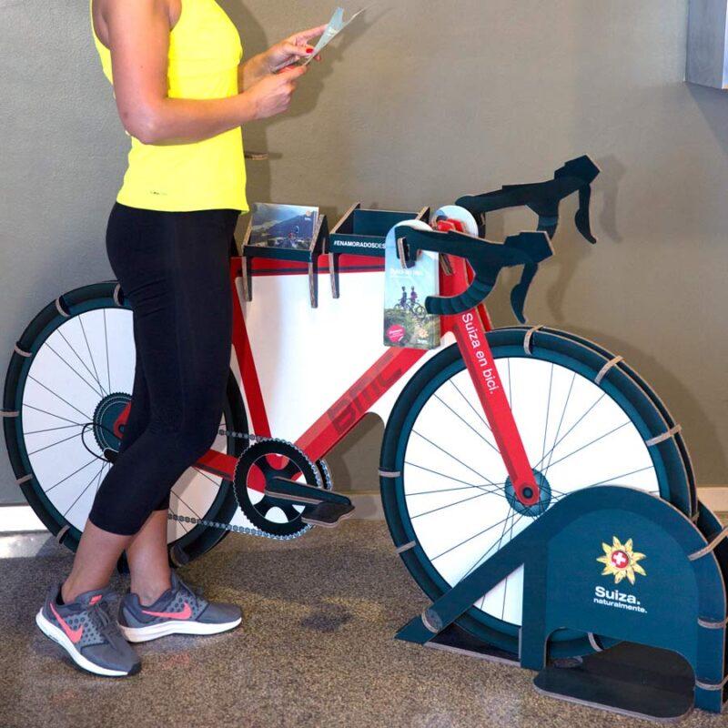 Expositor bicicleta para folletos display