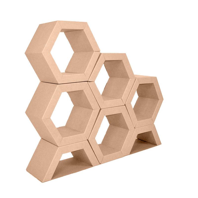 expositor hexagonal frontal