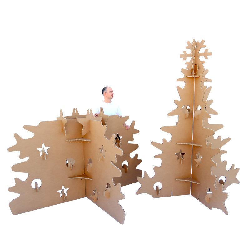 árbol de navidad gigante ecológico cartón desmontable
