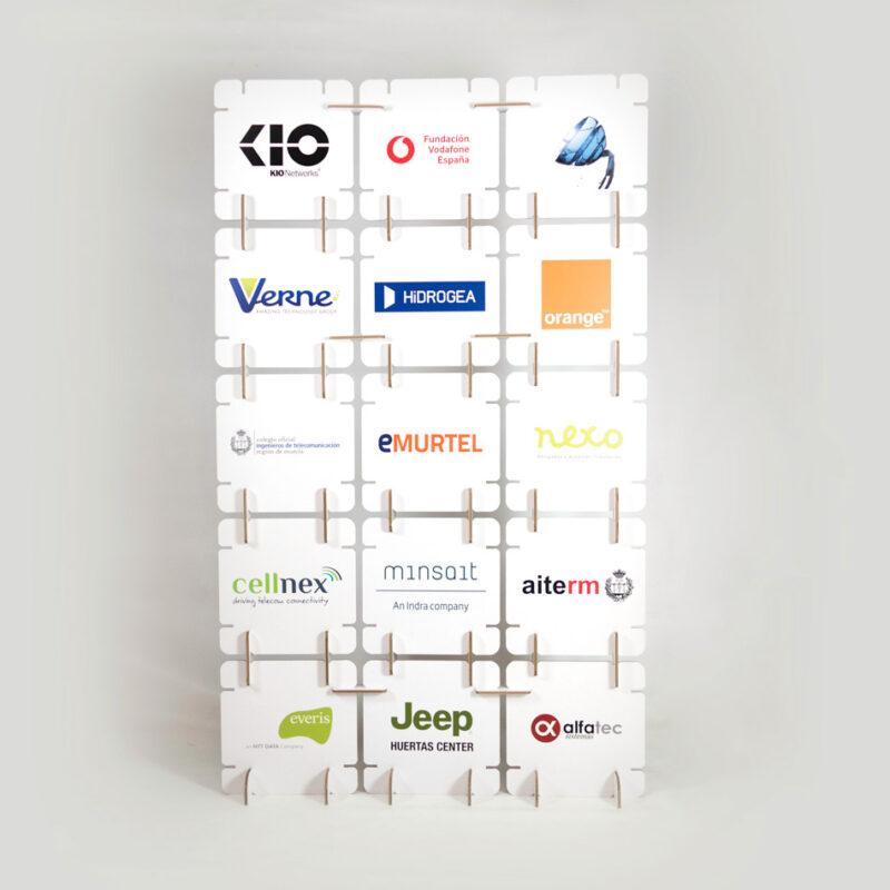 photocall modular cuadrado patrocinadores