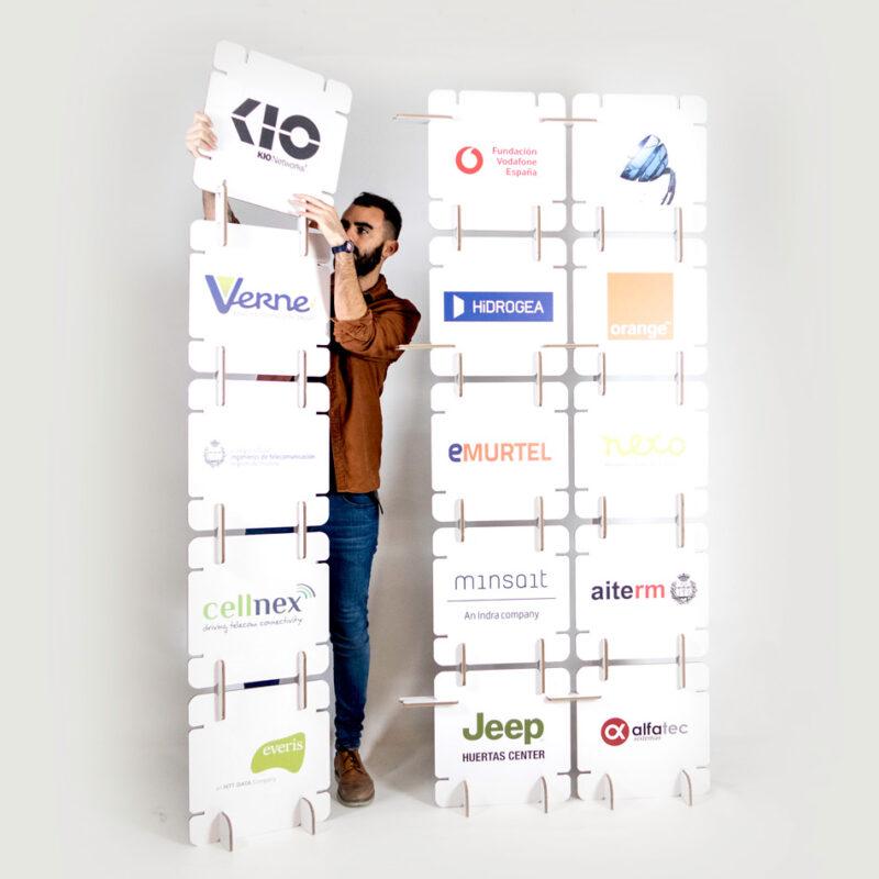 photocall modular logotipos evento
