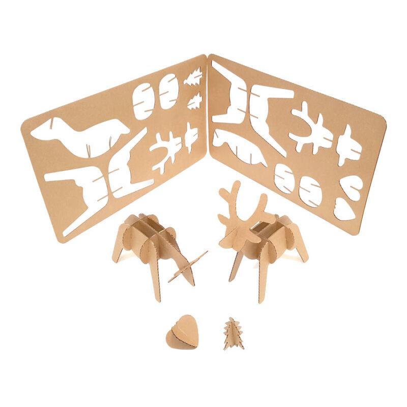 renos de navidad ecológicos