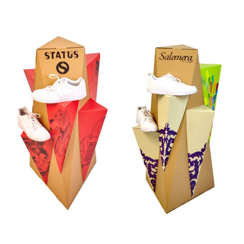 expositor totem carton personalizado producto