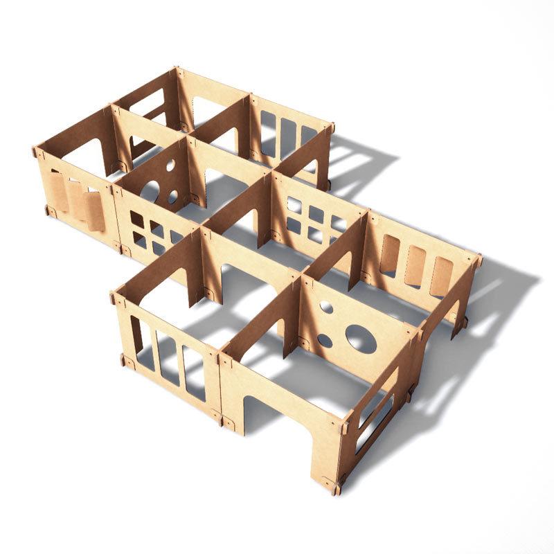 laberinto de cartón 2 unidades