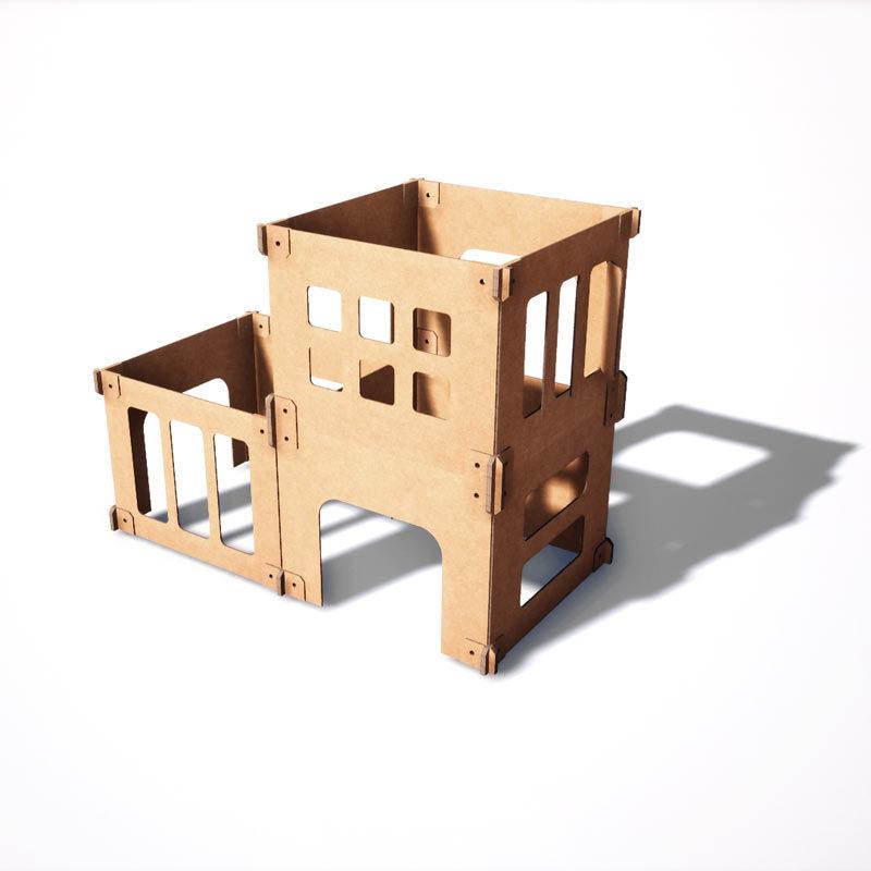 laberinto de cartón juego infantil
