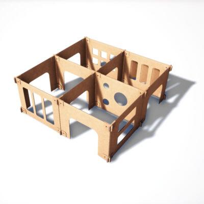 laberinto de cartón para niños