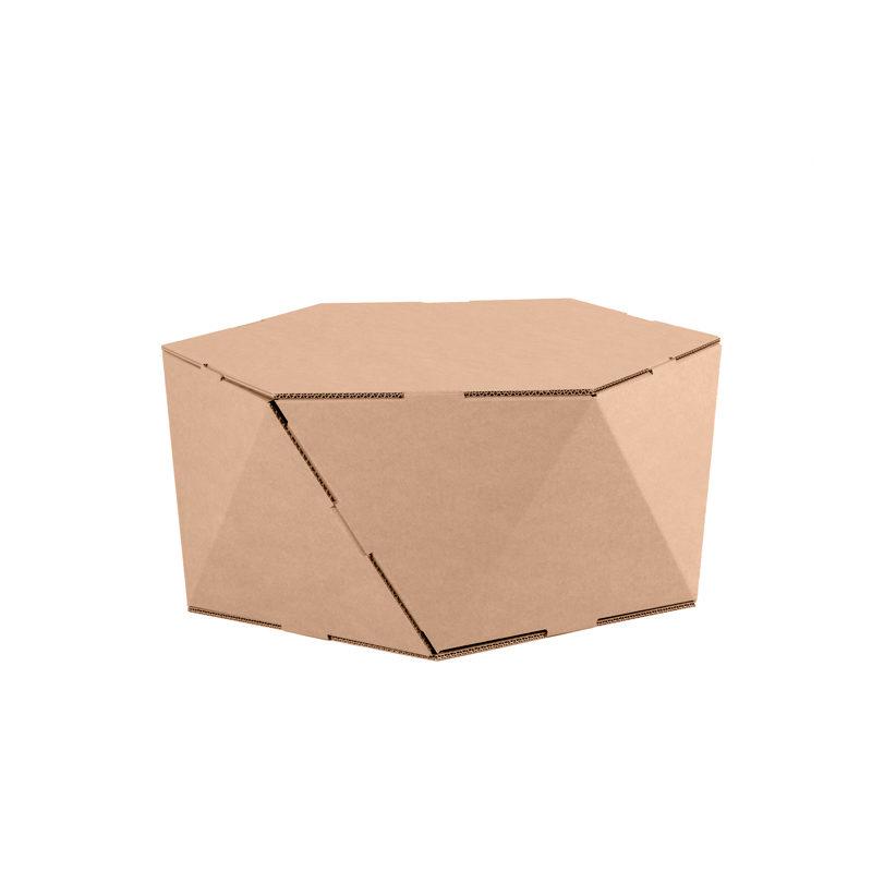 mesa hexagonal Faceta carton
