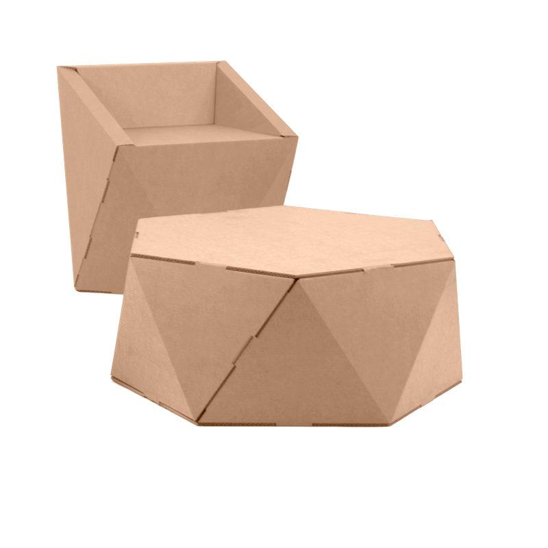 silla mesa hexagonal faceta