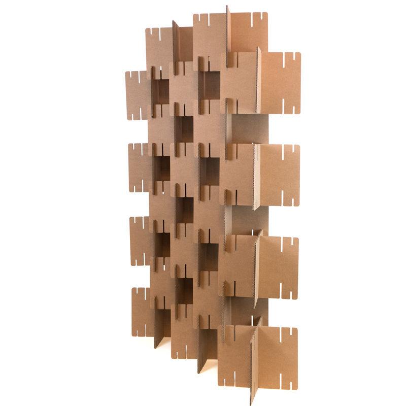 muro de cartón panel acústico