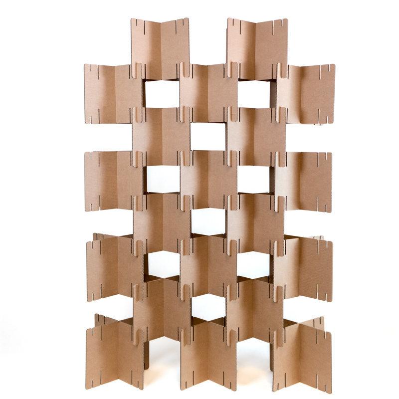 biombo cartón modular piezas
