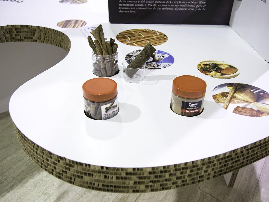 producción para exposiciones carton nido abeja