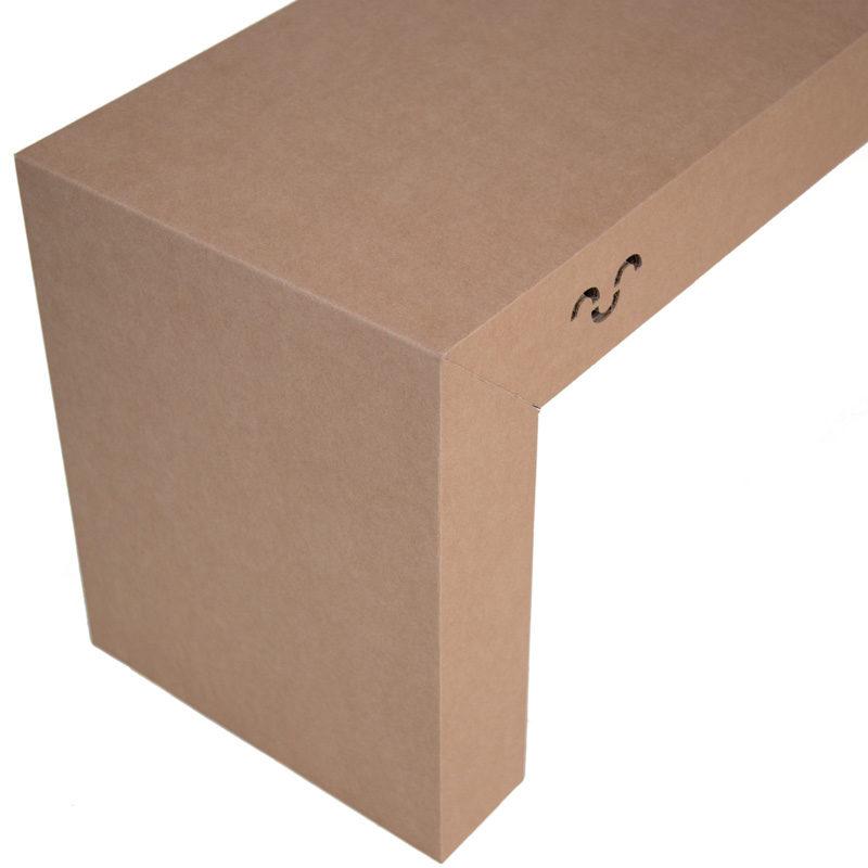 banco de cartón eventos sostenibles up