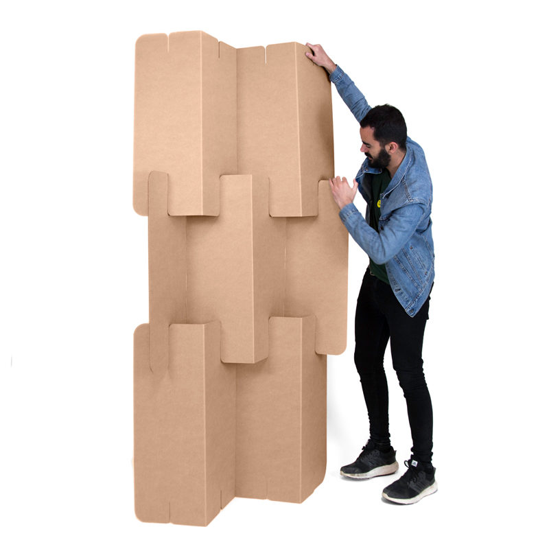 biombo plegable carton montaje