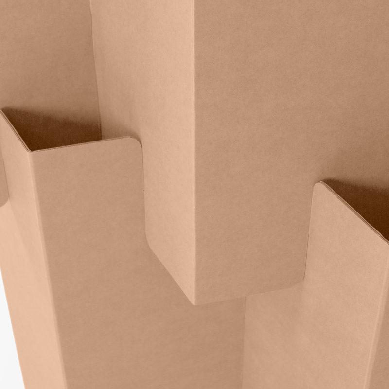 biombo plegable carton detalle