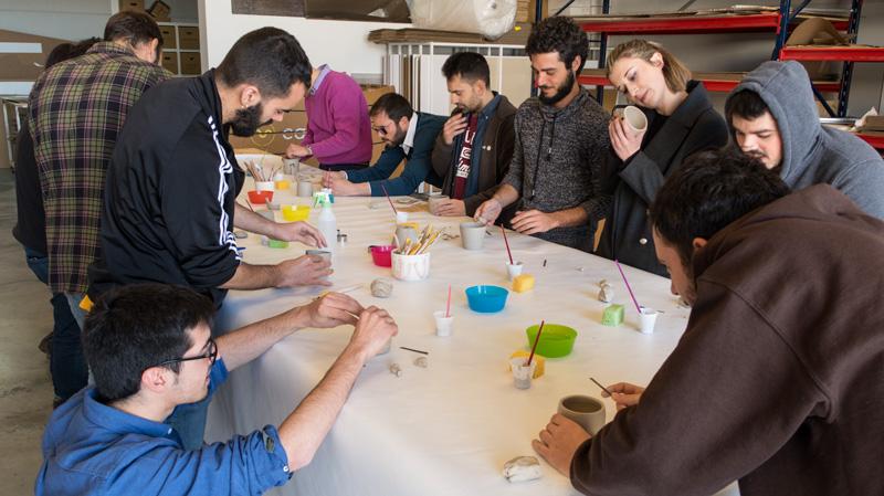 Taller cerámica equipo cartonlab Maria Moya