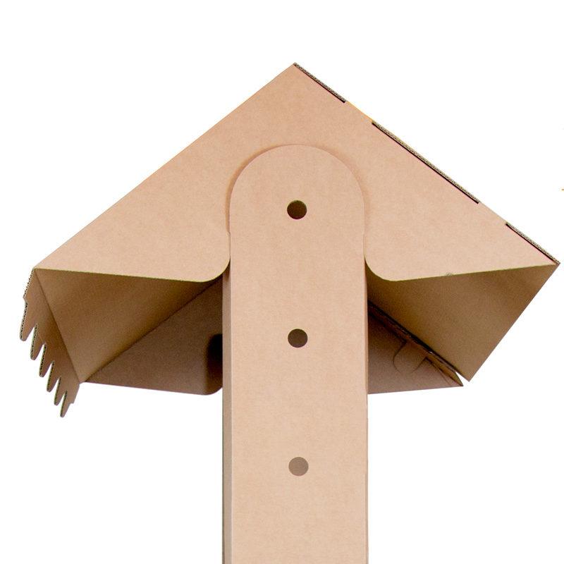 stand para degustación carton