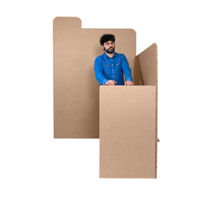 stand networking carton proporcion