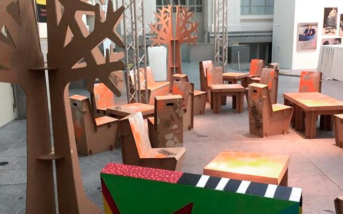 Muebles de cartón para eventos personalizados