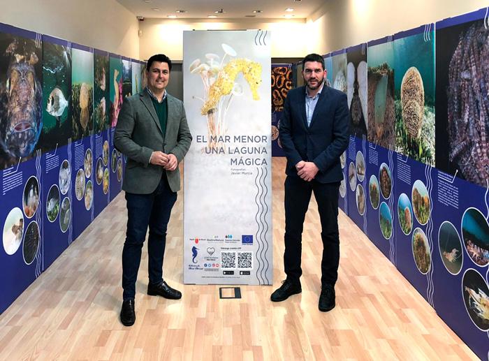 Alcalde de San Javier y Director General del Mar Menor en la expo