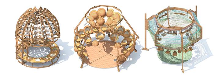 Tira de dibujos de Izaskun Chinchilla de tres de las lámparas