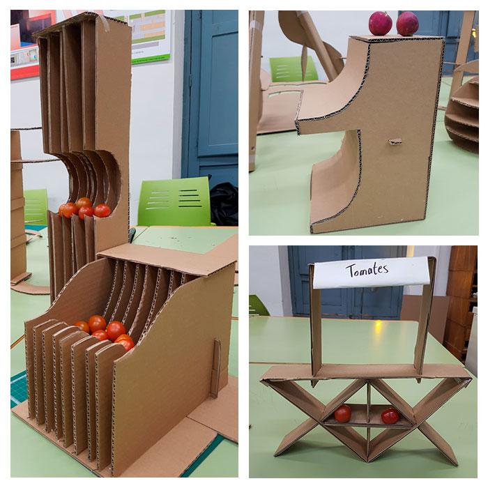 Prototipos de stand presentados por alumnos de la Semana del Diseño de Almería