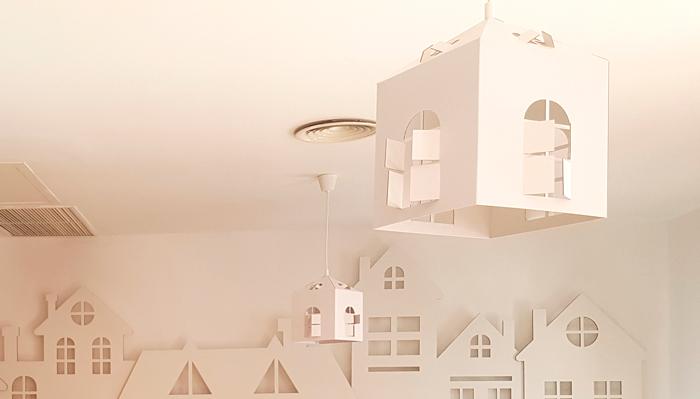 Lámpara troquelada como decoración de restaurantes