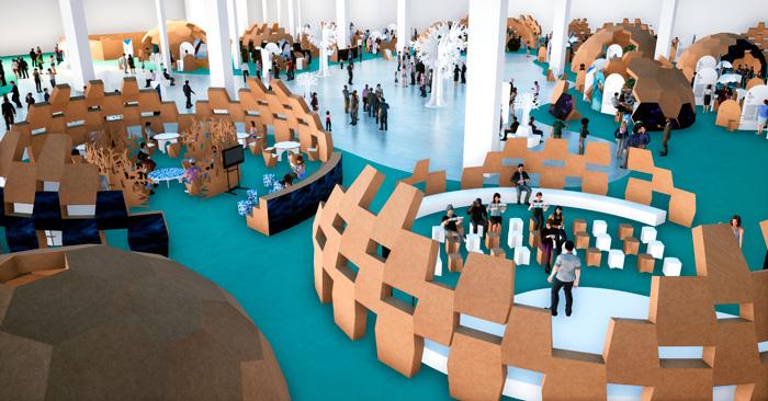 Vista del interior del diseño de congresos y eventos