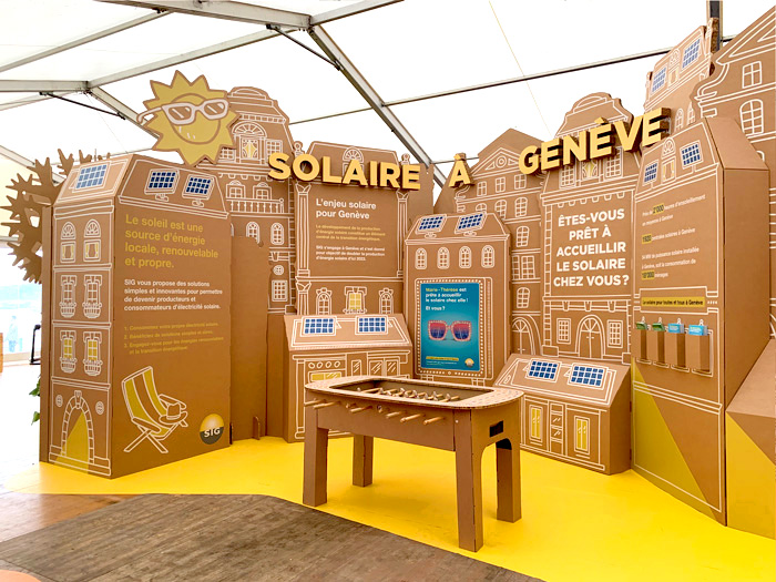 Espacio para energía solar en diseño de exposiciones internacionales
