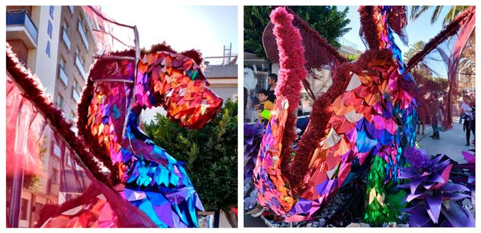 Composición de detalles del dragón gigante ya customizado