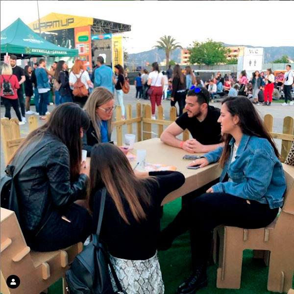 Muebles para marketing urbano en Warm Up, Murcia