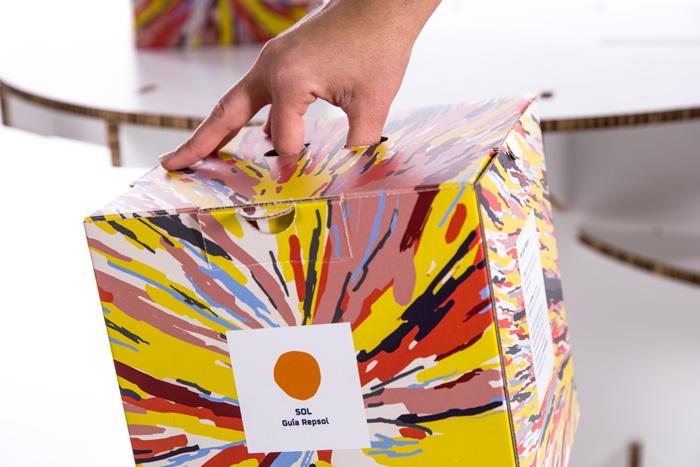 Detalle de agarre de diseño de packaging personalizado