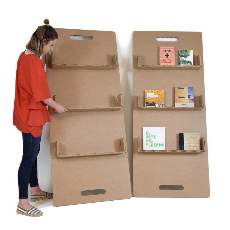 Revistero de pared para librerías