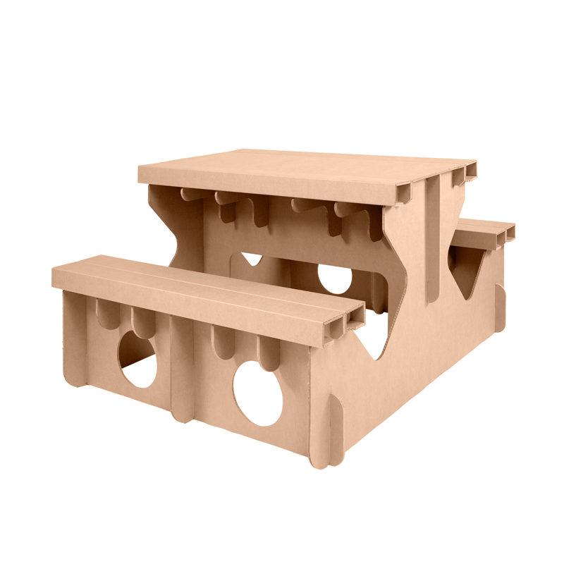 mesa picnic carton girada