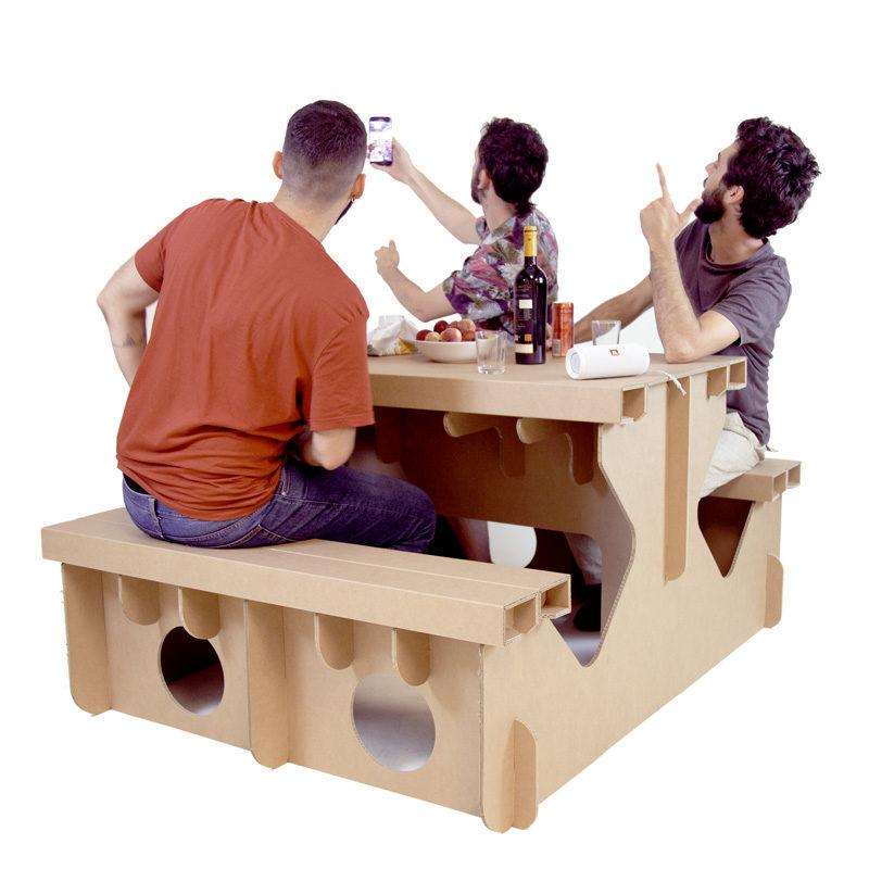 mesa picnic carton proporcion