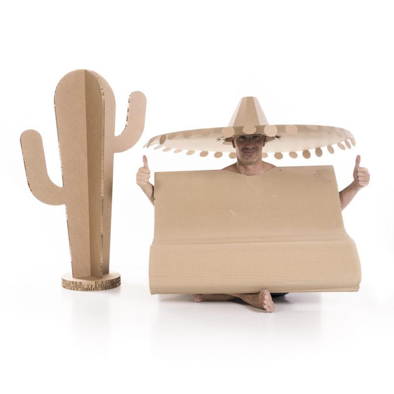 cactus decoracion mexicana carton