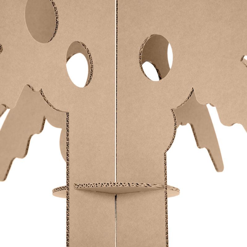 palmera carton detalle tronco