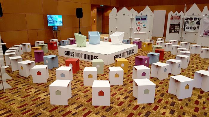 Diseño eventos hoteles. Escenario pequeño GNB