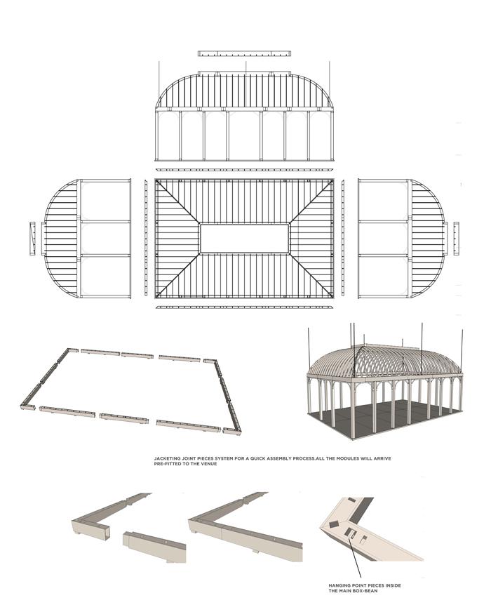 Planos de estructura diseño stand exclusivo