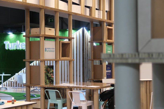 cardboard tubes booth design cartonlab
