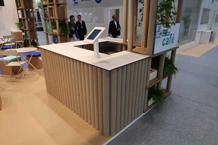 cardboard tubes desk design