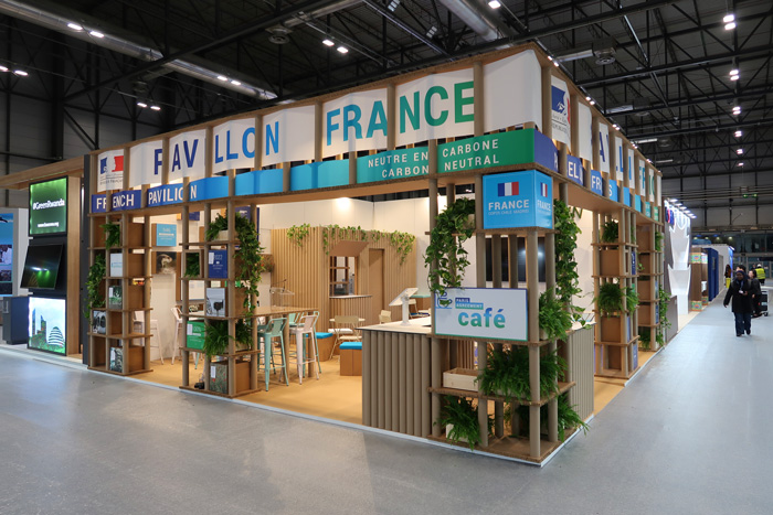 climate change booth at cop25 Madrid