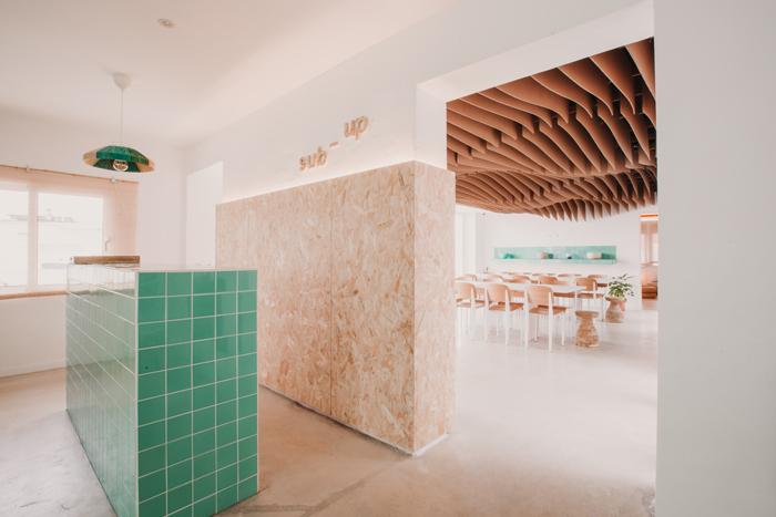 Interior parametric design lounge hostel