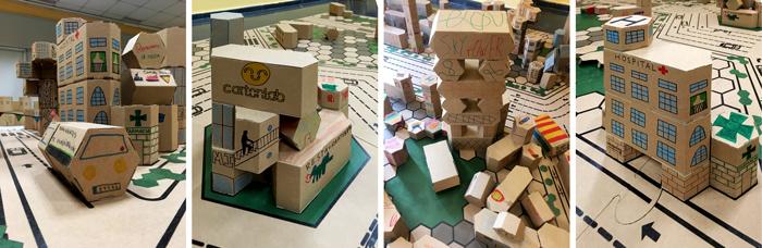 Detalles de la ciudad del taller infantil de construcción