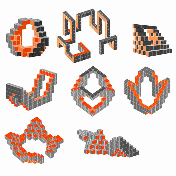 Estructuras con cubos de cartón