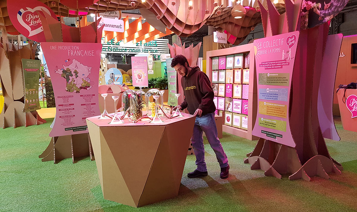 stand Pink Lady feria agricultura paris