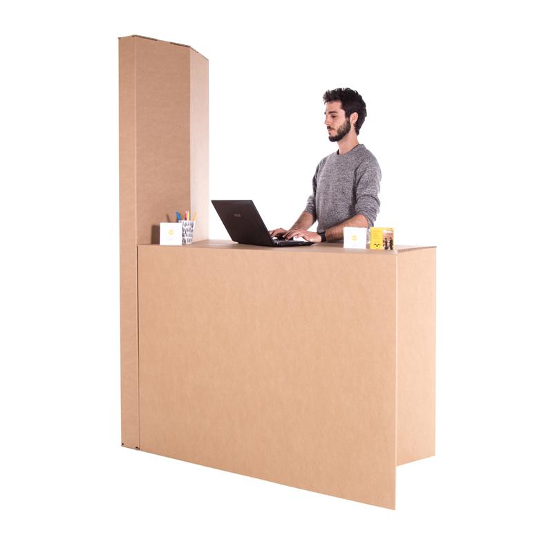 Stand mostrador plegable con columna totem