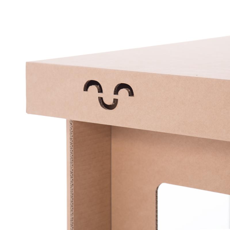 mesa carton detalle troquelado cartonlab