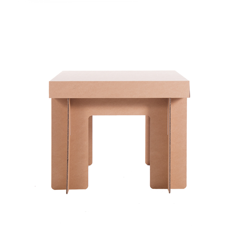 mesa carton auxiliar cuadrada
