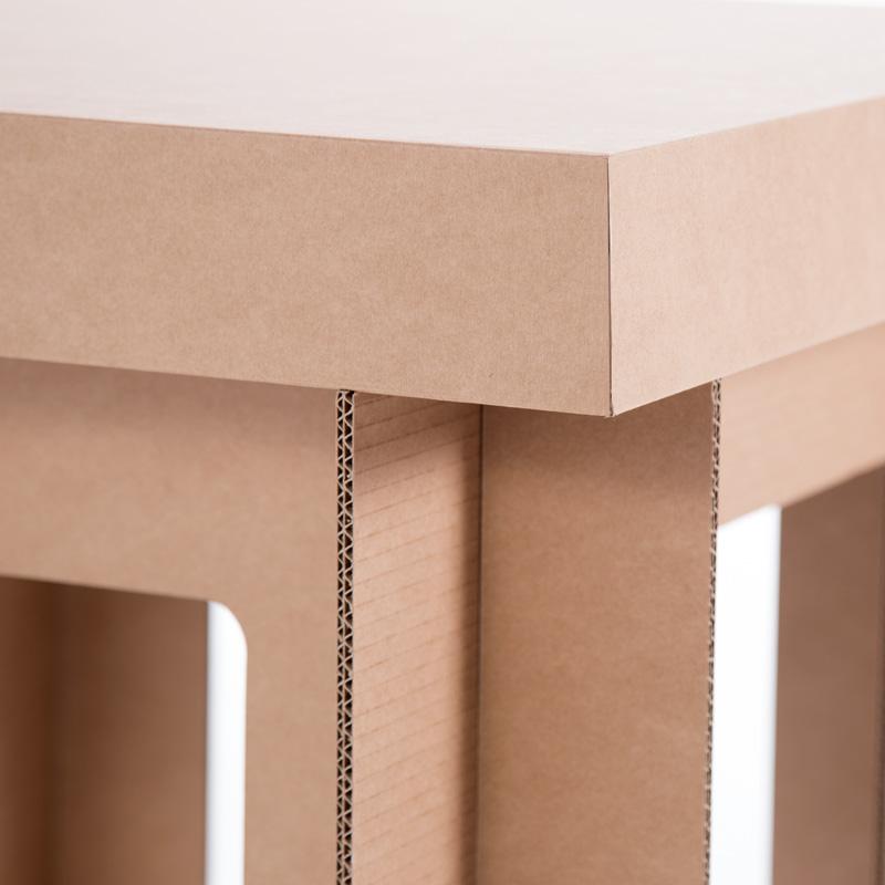 mesa cuadrada carton detalle